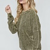 Olive LS Ribbed Sweater