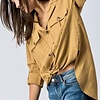 Mustard Roll Up Sleeve Button Down Top-SALE ITEM