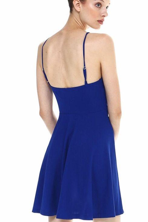 Royal Blue Spaghetti Strap Dress