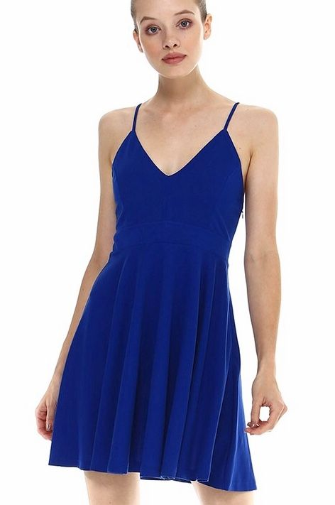 Royal Blue Spaghetti Strap Dress