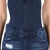 Dark Wash Side Zipper Detail Overalls