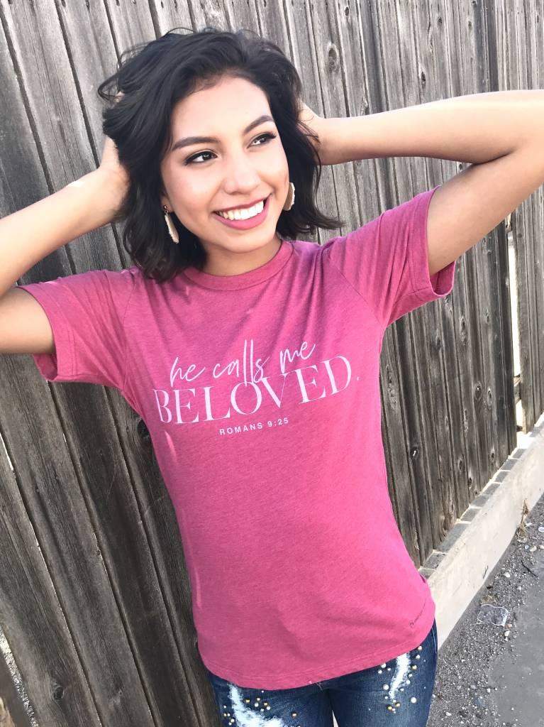 """Faded Red """"He Calls Me Beloved"""" T-Shirt"""