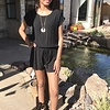 Black Romper with Cinched Waist
