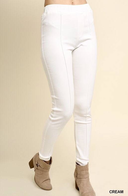 Off White High Waisted Front Seam Jegging