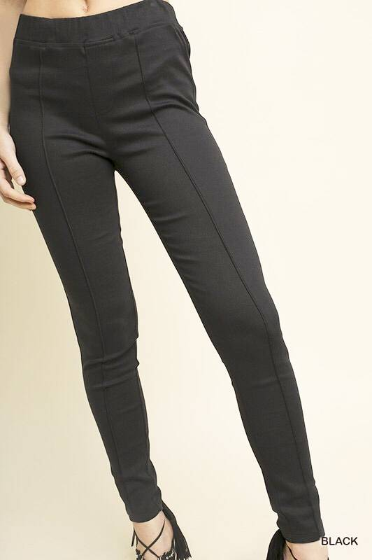 Black High Waisted Front Seam Jegging