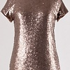 Bronze Sequin SS Top
