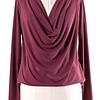 Crossover Cowl Neck LS Top- More Colors