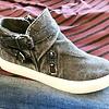 Grey Sneaker with Buckles