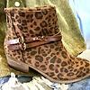 Brown Leopard Bootie