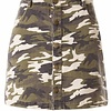 Camouflage Button Detail Skirt