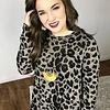 Mocha LS Leopard Print Dress