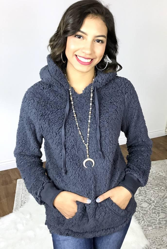 Charcoal Fleece Hoodie Pullover