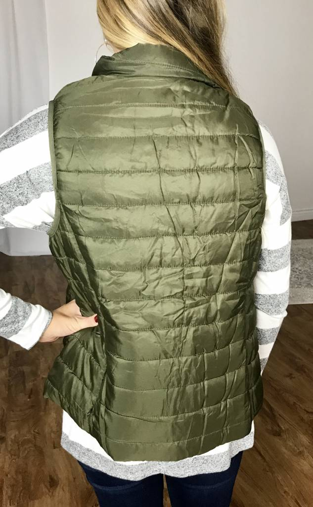 Olive Puffer Vest