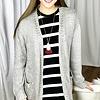 Grey Oversize Knit Cardigan