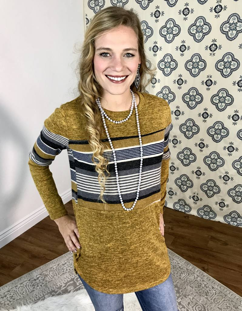 Elise Striped Top- More Colors