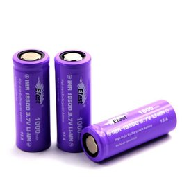 eFest Efest IMR 15Amp 18500 1000mAh 3.7v Battery - Flat Top