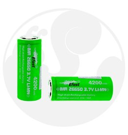 eFest Efest IMR 20/50Amp 26650 4200mAh 3.7v Battery - Flat Top