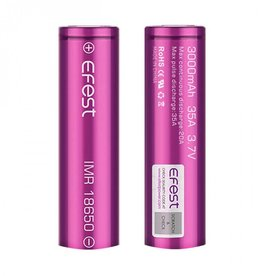 eFest Efest IMR 35Amp 18650 3000mAh 3.7v Battery - Flat Top