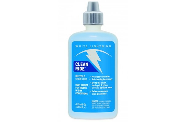 White Lightning Clean Ride, Chain Lubricant, 4oz (120ml)