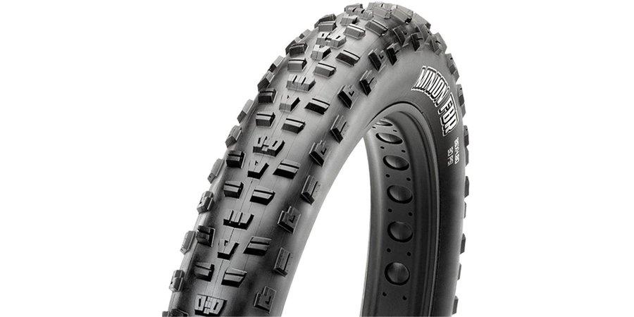 "Maxxis Maxxis Minion FBR 26 x 4.0"" Tire, Folding, 120tpi, Dual Compound, EXO, Tubeless Ready"