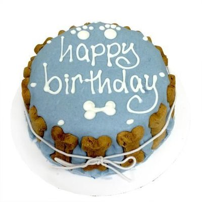 Bubba Rose Birthday Classic cake BLUE top white lettering