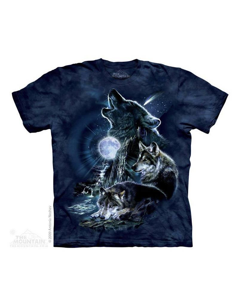 Mountain Three Wolf Moon T-shirt