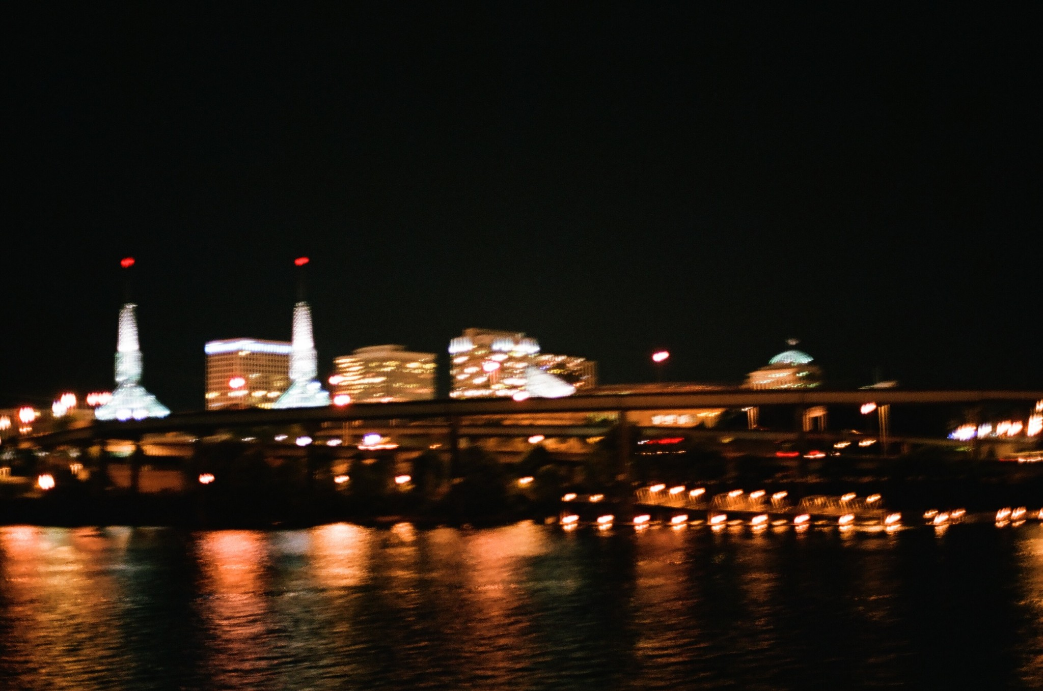 Portland Downtown Blurry