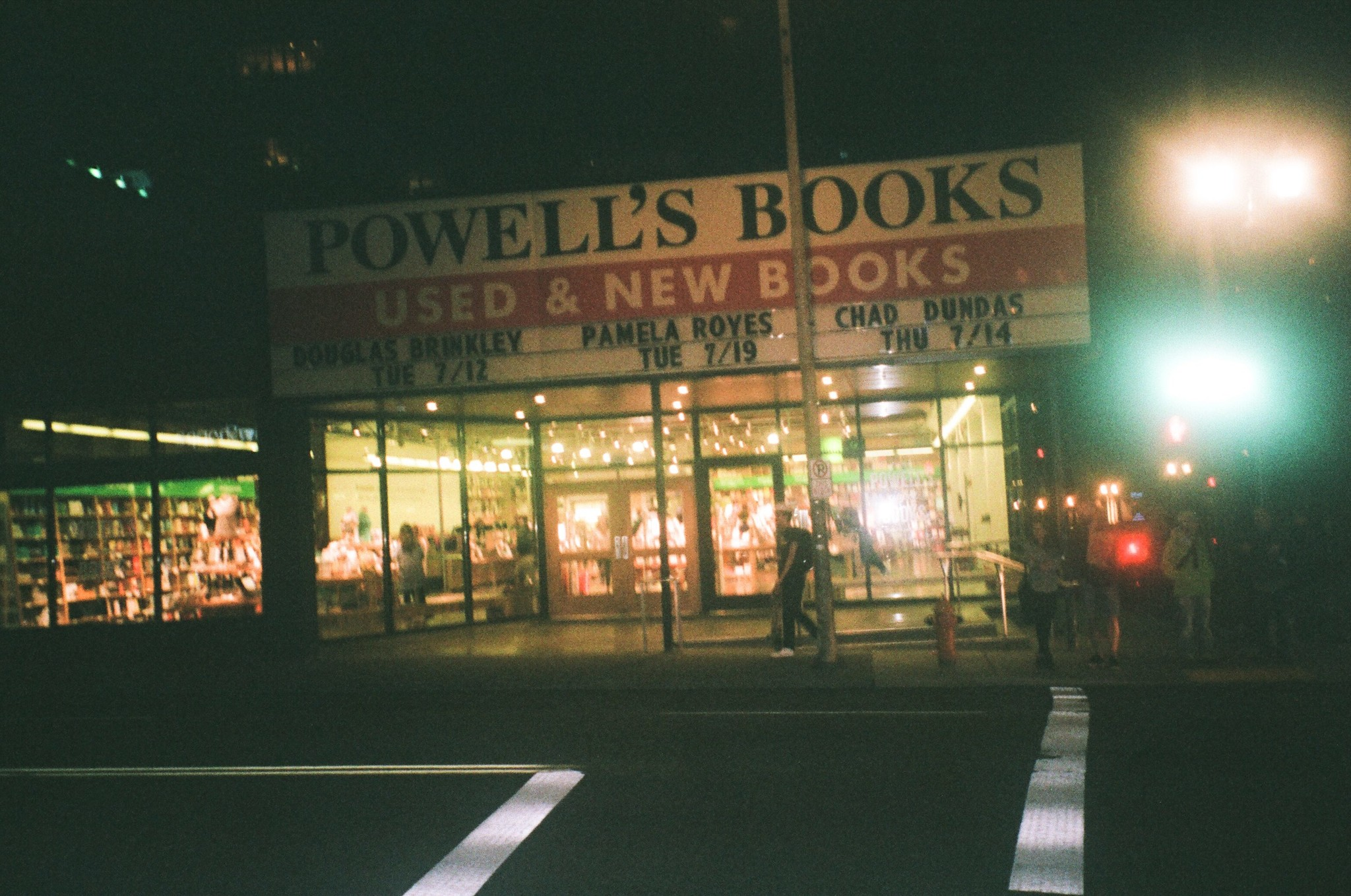 Powell's at night in Portland