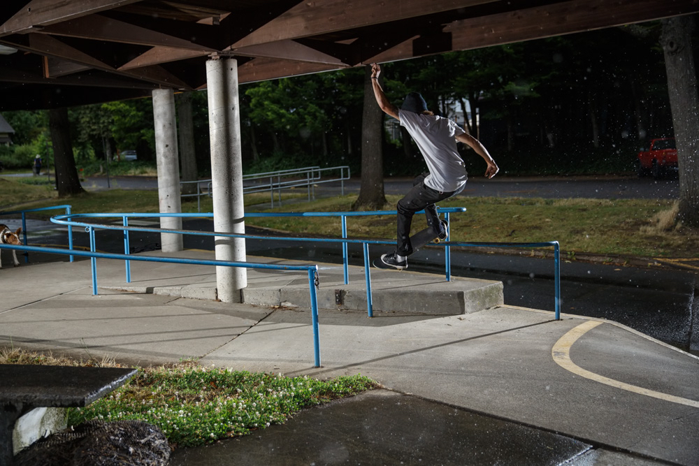 Chase front smith in Portland skateboarding