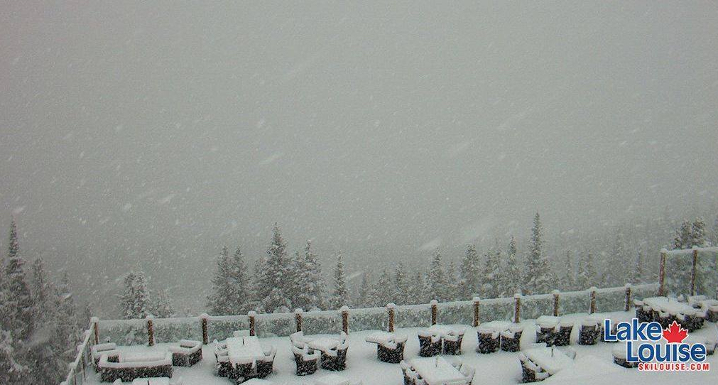 Lake Louise Ski Resort Snow Cam September