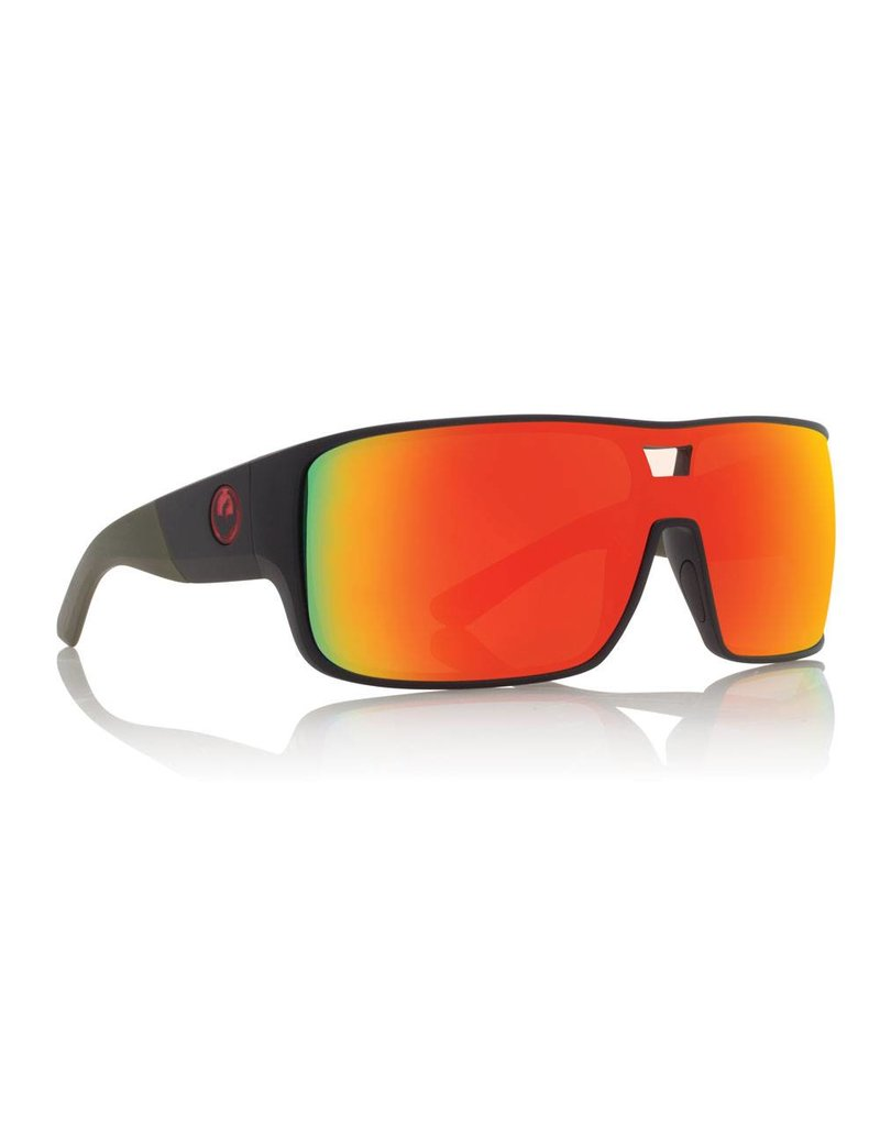 Dragon The Hex Sunglasses Matte Utility Green/Red Ion