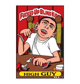 Blind Fucked Up Blind Kids Sticker Pack High Guy (10pack)