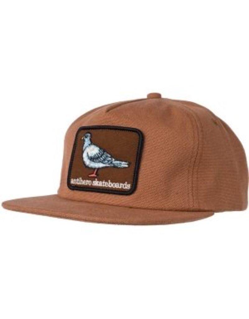 Anti Hero Anti Hero Pigeon Patch Snapback Hat (brown)