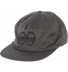 Krooked Krooked Eyes EMB Strapback Hat (Black Ink)