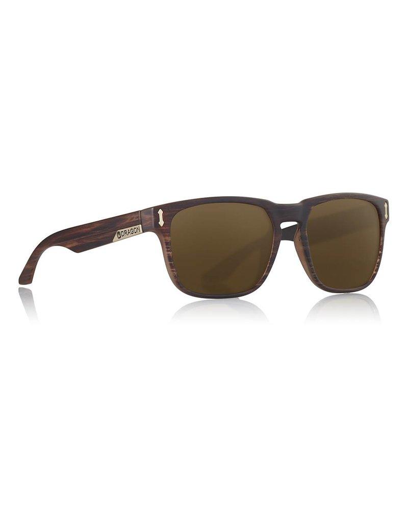 Dragon Moarch Sunglasses (matte wood/bronze)