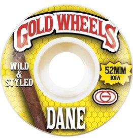 Gold Gold Woods Dane Wheels (52mm)