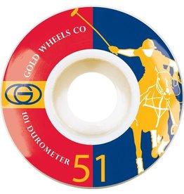Gold Gold Karat Clubs Wheels (51mm)