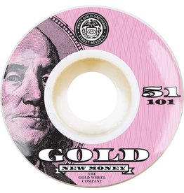 Gold Gold New Money Wheels (51mm)