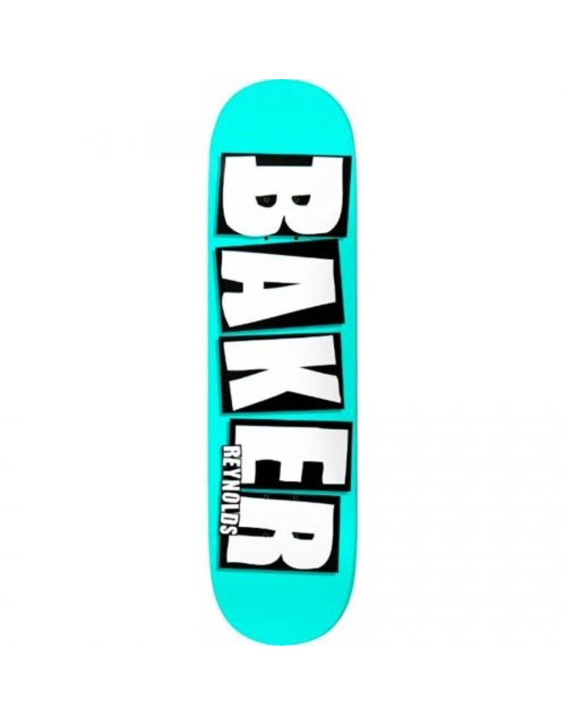 Baker Baker Reynolds Brand Name Neon Blue Deck (8.0)