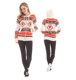 RDS RDS W Egyptian Zip Sweater