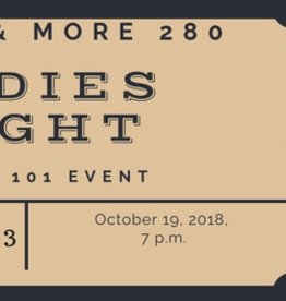 Ladies Night Night Ticket $25 per person includes 1 Drink and 3 cigars