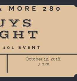 Guys Night Ticket $25 per person includes 1 Drink and 3 cigars