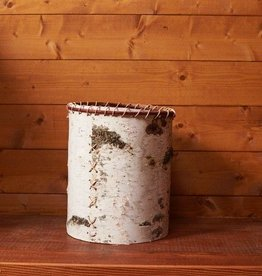 The Birch Store Rustic Birch Waste Basket