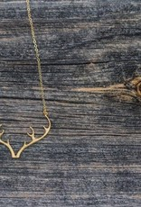 Padgett Hoke PH Gold Antler Necklace