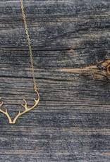 Padgett Hoke PH Gold Antler Necklace