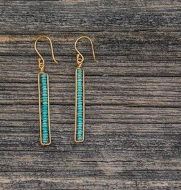 Roost Turquoise Peapod Earrings