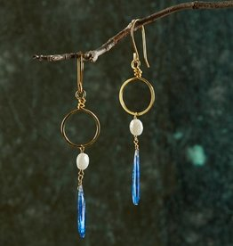 Roost Amira Blue Drop Circle Earrings