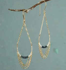 Roost Amira Blue Chain Chandelier Earrings