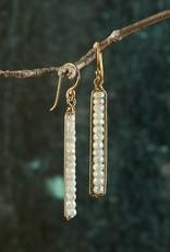 Roost White Silverite Peapod Earrings