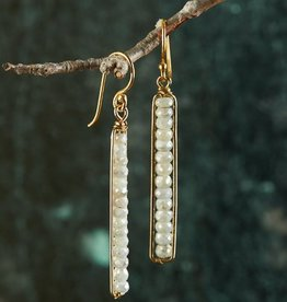 The Birch Store White Silverite Peapod Earrings
